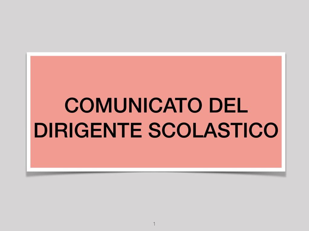 Comunicato Dirigente