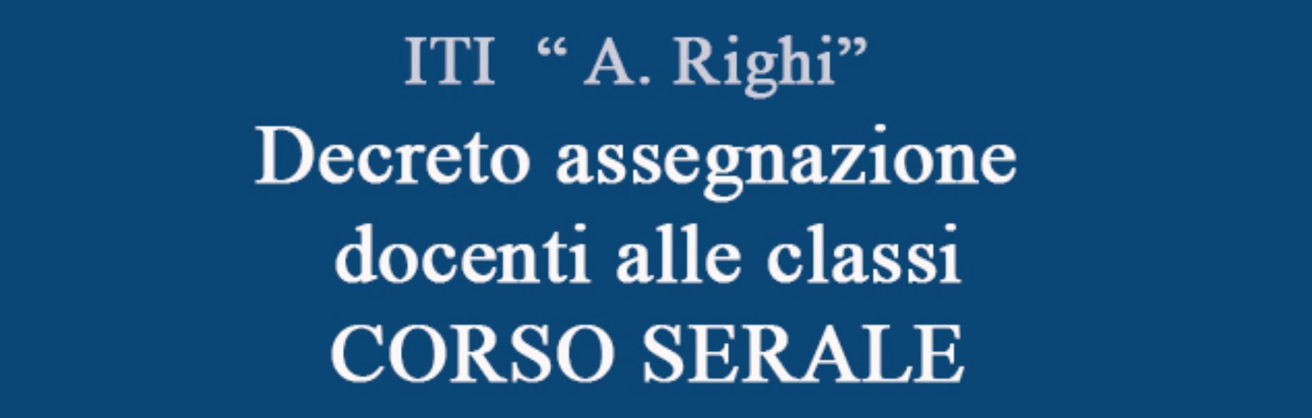 Decreto assegnazione docenti alle classi CORSO ...