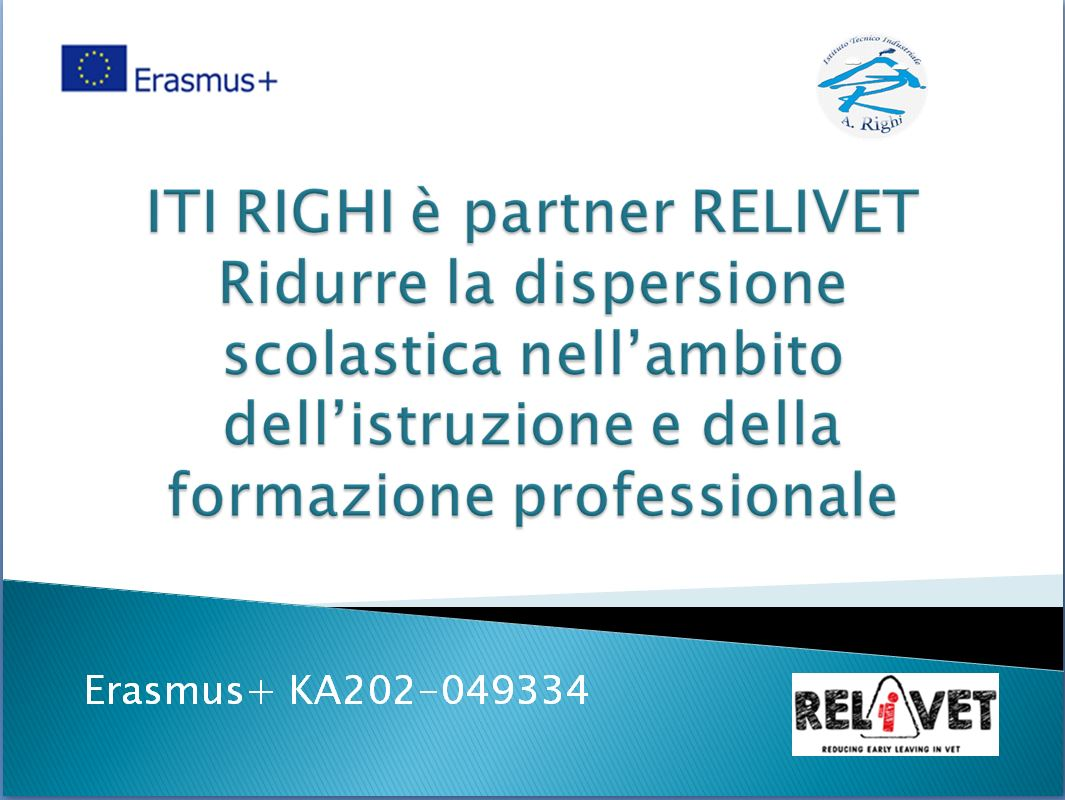 Erasmu+ :   ITI RIGHI è partner RELIVET