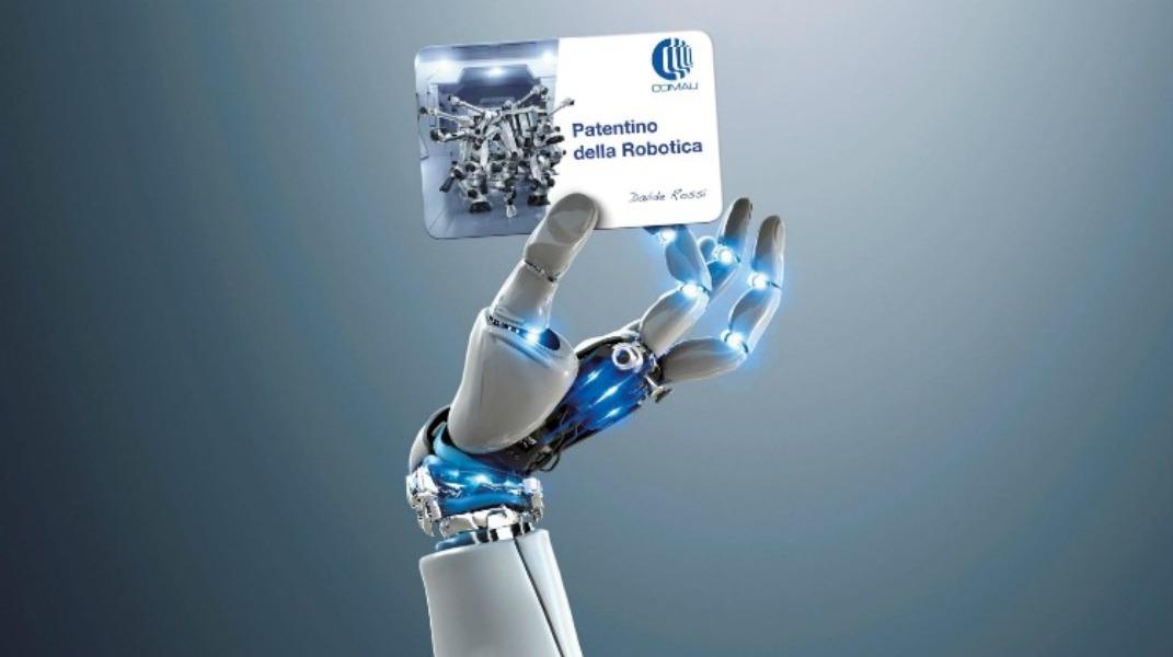 Locandina e info Patentino Robotica