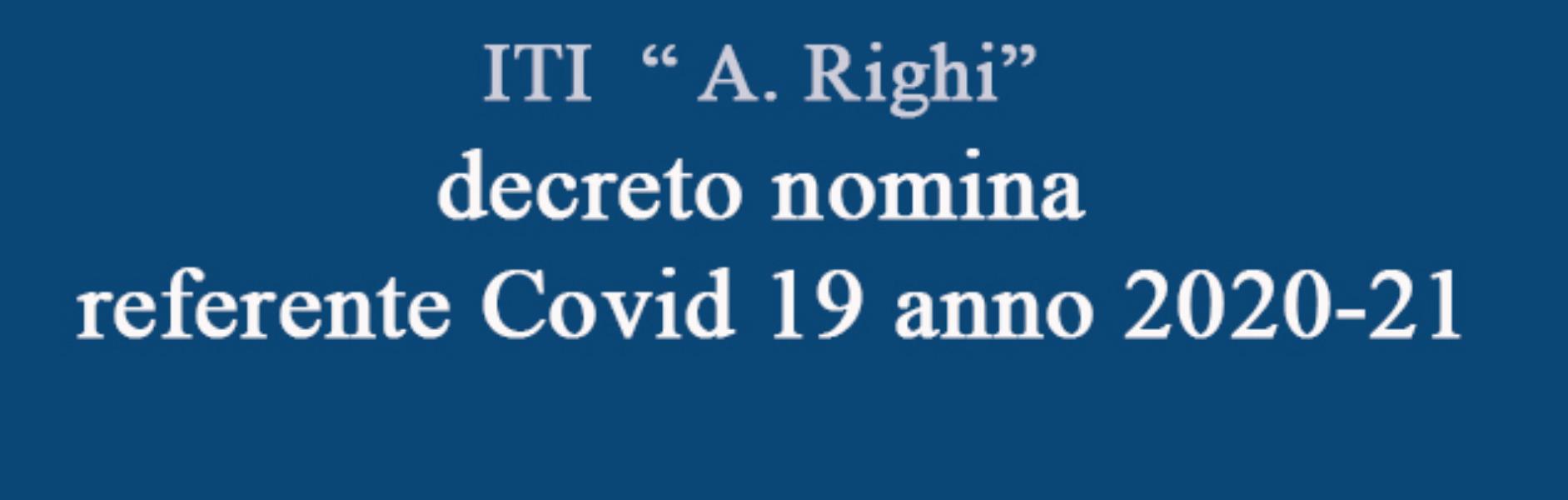 decreto nomina referente Covid 19 anno 2020-21